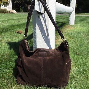 Kate Spade Brown Suede Hobo Shoulder Bag